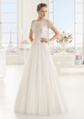 2016 TWO by ROSA CLARA A-line wedding dress in tulle with embellishement detail 01