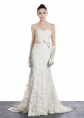 Annasul Y sweetheart neckline wedding dress with silk sash 1