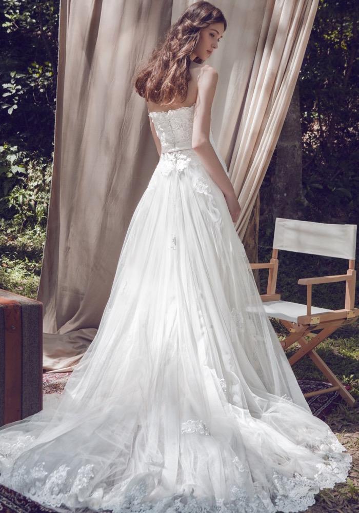 Lm by lusan mandongus elegant floral blossom wedding for Rent designer wedding dress