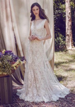 LM by lusan mandongus 2017 bridal - hong kong - rent designer wedding dress - V neck - beaded lace-01
