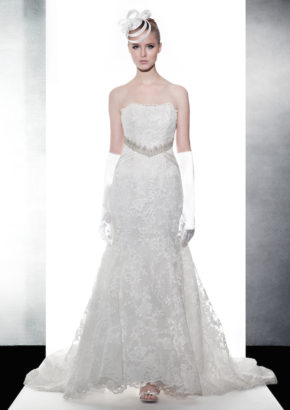 LM mermaid wedding dress with crystal embellishment on the waist 1