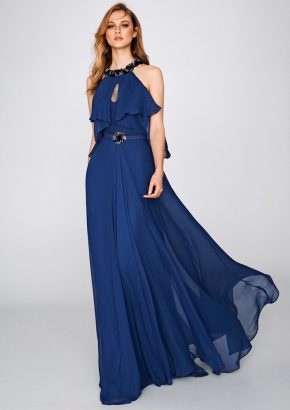 St-patrick-2019-cocktail-collection-8302-beaded-navy-blue-chiffon-cocktail-dress-01