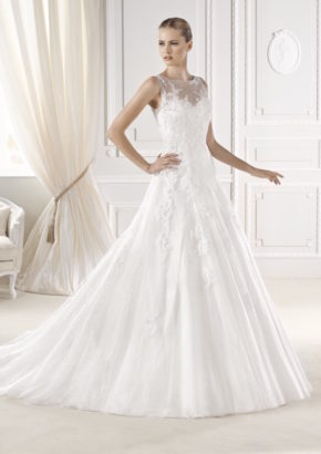 la sposa - beaded A-line wedding dress-01