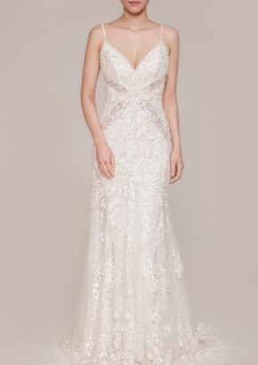 lm by lusan mandongus - embellished mermaid wedding dress with straps-01