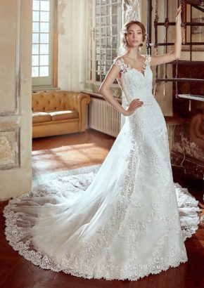nicole-spose-2017-thread embroidered wedding dress in silk 01