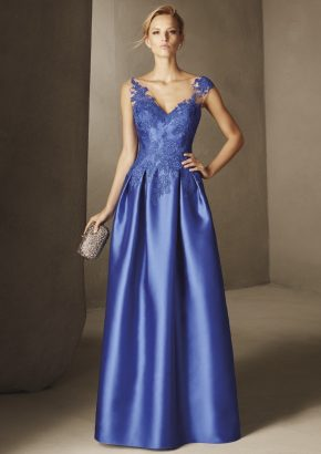 pronovias-BESALU-lace-embroidered-blue-mikado-evening-dress_01