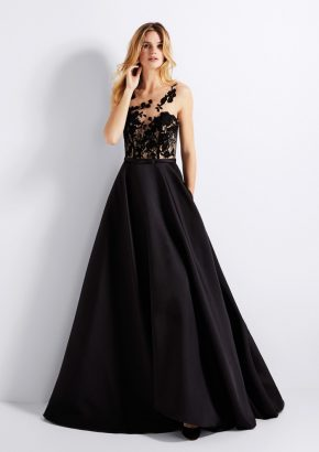 pronovias-GENA-embroidered-black-mikado-evening-gown_01