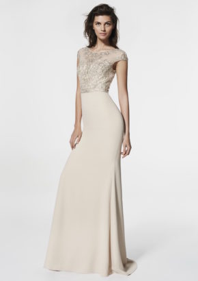 san patrick 2018 - embellished beige mermaid evening gown-01