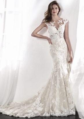 san patrick 2018 - embroidered mermaid wedding dress-01