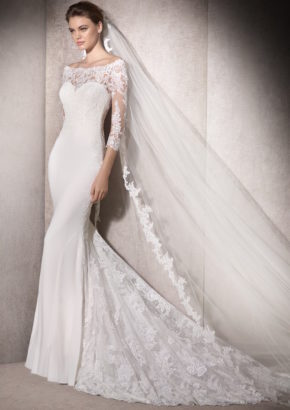 san patrick 2018 - off shoulder mermaid wedding dress-01