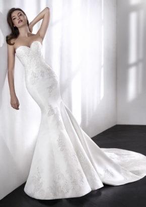 st patrick 2018 - embellished strapless mermaid wedding dress in satin-01