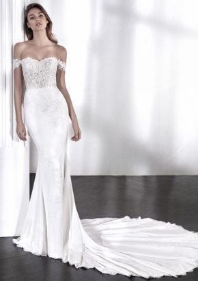 st patrick 2018 laelia - embroidered off shoulder mermaid wedding dress-01