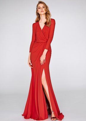 st-patrick-2019-cocktail-collection-8327-elegant-red-cocktail-dress-with-sleeves-01