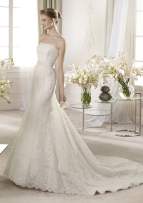 st patrick - strapless wedding dress for rent - hong kong-01