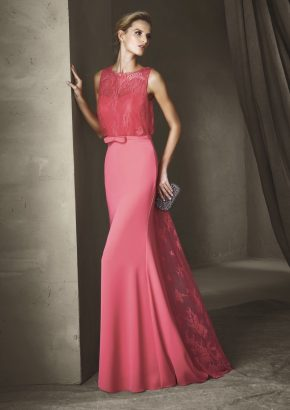 pronovias-CINZIA-lace-embroidered-pink-crepe-gown_01