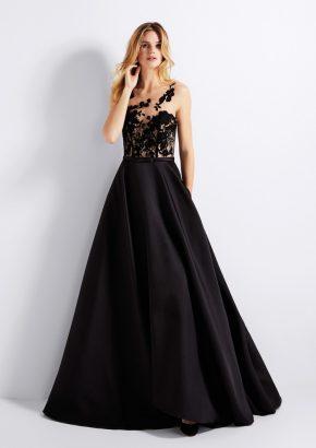 pronovias-GENA-embroidered-black-mikado-evening-gown_01