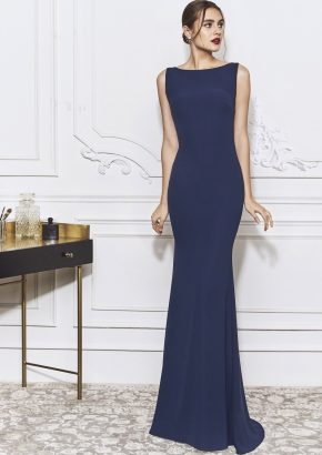 st-patrick-2020-TURANDOT-navy-blue-mermaid-crepe-evening-dress-with-keyhole-back_01